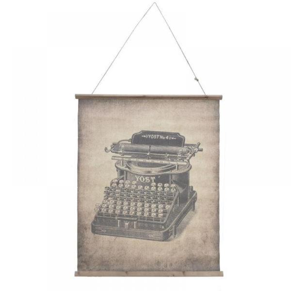 Επιτοίχιος Διακοσμητικός Καμβάς 'Γραφομηχανή' 77x98