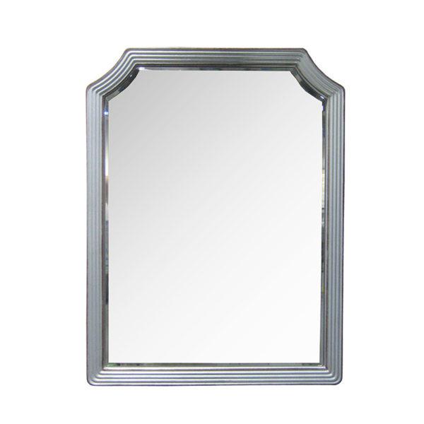 Επιτοίχιος Καθρέπτης Με Μεταλλική Γαλβανιζέ Γκρι Τριπλή Κορνίζα Μ64.5 Υ84.5