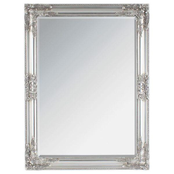 Επιτοίχιος Καθρέπτης Με Σκαλιστά σχέδια Αντικέ Γκρι Μ62 Υ82