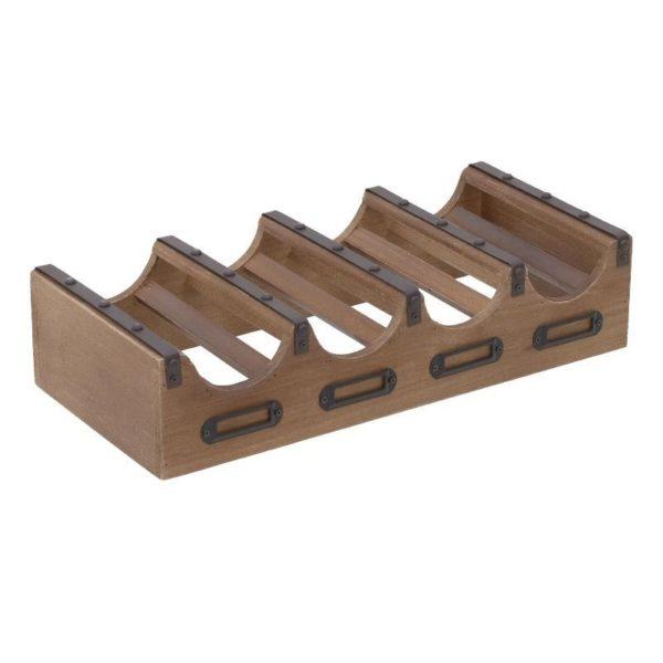 Επιτραπέζια Μπουκαλοθήκη 4 Θέσεων Ξύλο/ Μέταλλο 43.5x20x10cm