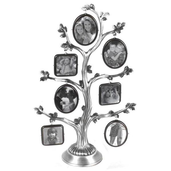 Επιτραπέζια Κορνίζα 7θέσια Μεταλλική ''Δέντρο'' Ασημί