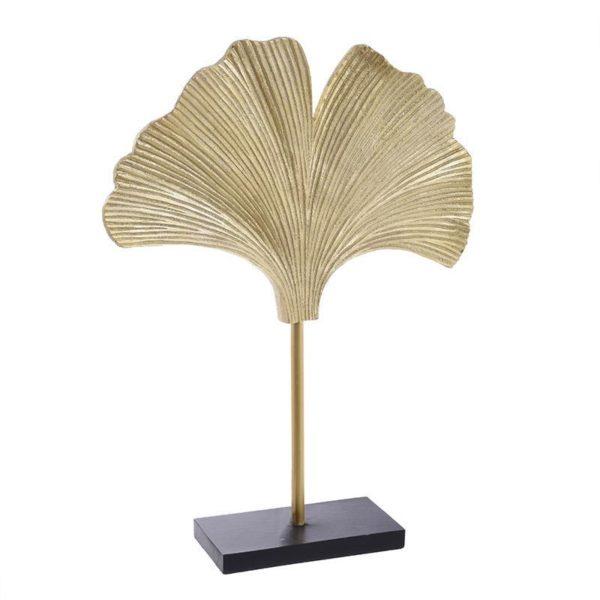 Επιτραπέζιο Διακοσμητικό Χρυσό 'Πάπυρος' Σε Μαύρη Βάση Υ46