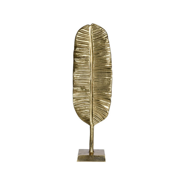 Επιτραπέζιο Διακοσμητικό 'Φτερό' Χρυσό Από Χυτό Αλουμίνιο Σε Βάση Υ55