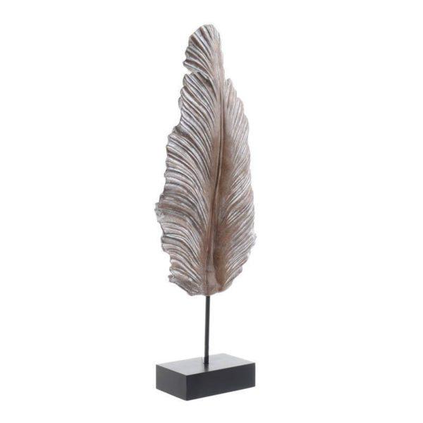 Επιτραπέζιο Διακοσμητικό Φτερό Σε Βάση Μπεζ/ Εκρού Υ60
