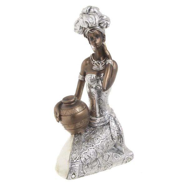 Επιτραπέζιο Διακοσμητικό Γυναικεία Φιγούρα Ασημί 'Egyptian' 15x10x23 Ιnart