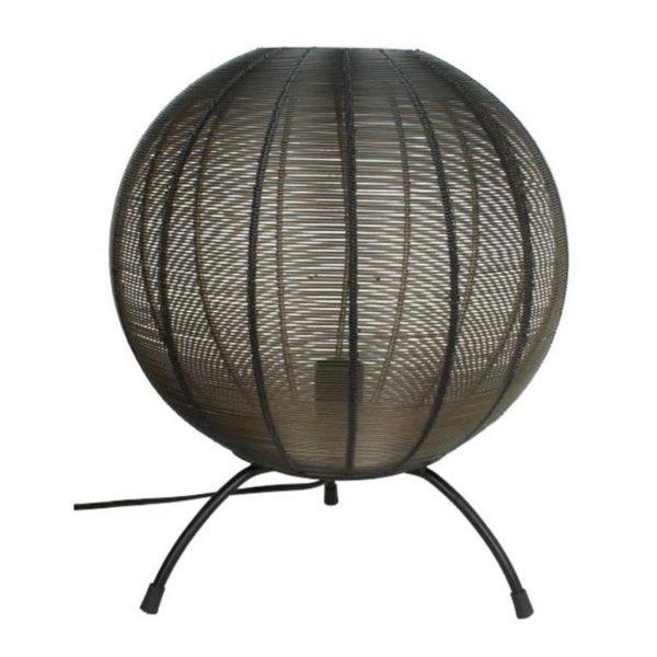 Επιτραπέζιο Φωτιστικό Μεταλλικό Μαύρο 'Σφαιρα' 35x35x42   Zaros