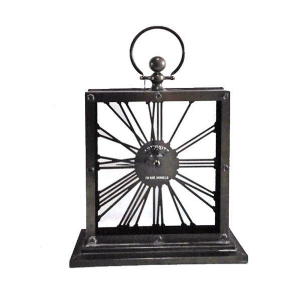 Επιτραπέζιο Μεταλλικό Ρολόι Με Λατινικούς Αριθμούς