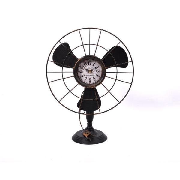 Επιτραπέζιο Μεταλλικό Ρολόι Rusty ''Ανεμιστήρας'' Μ32.5 Υ42