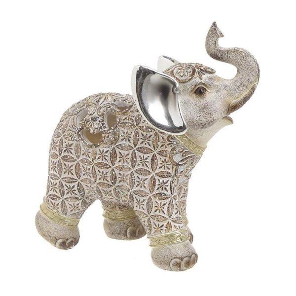 Επιτραπέζιος Διακοσμητικός Ελέφαντας Εκρού Υ17 Inart