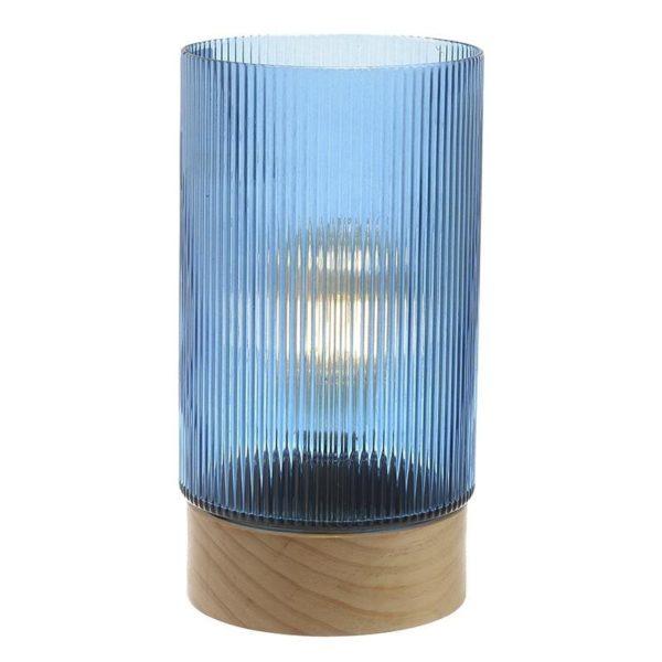 Φωτιστικό Led Επιτραπέζιο Γυάλινο Μπλε 3V Δ14.5x28 Inart