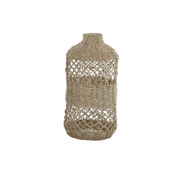 Φωτιστικό Οροφής Μονόφωτο 'Μπουκάλι' Από Πάνδανο Πλεκτό Natural Δ33 Υ73