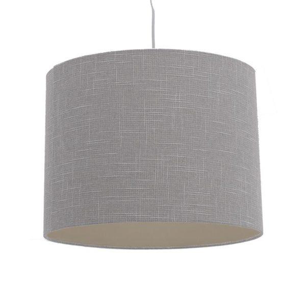 Φωτιστικό Οροφής Μονόφωτο Με Υφασμάτινο Καπέλο Απαλό Γκρι Δ30 Υ25/110