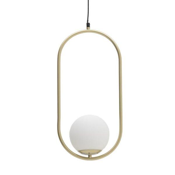 Φωτιστικό Οροφής Μονόφωτο Μεταλλικό Λευκό/ Χρυσό 29x25x50/150