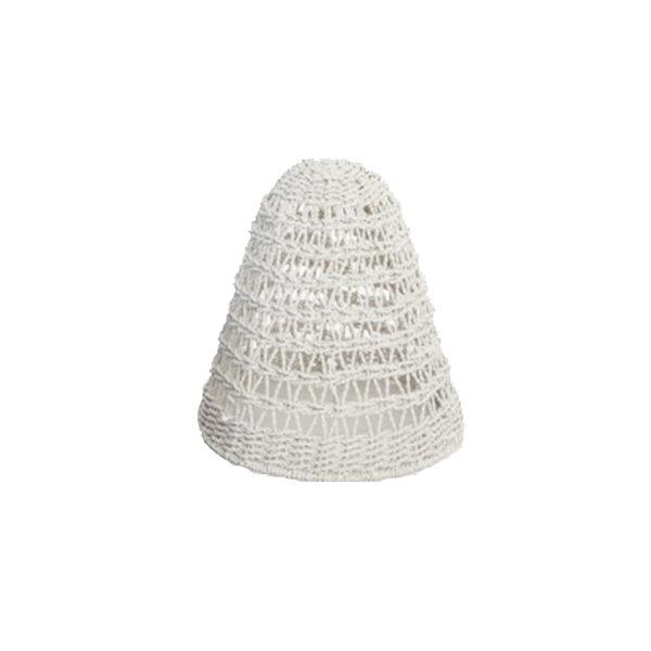 Φωτιστικό Οροφής Μονόφωτο Πλεχτό Από Πάνδανο Λευκό Δ50