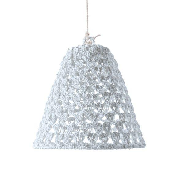 Φωτιστικό Οροφής Μονόφωτο Σχοινί Πλεχτό Λευκό Δ60