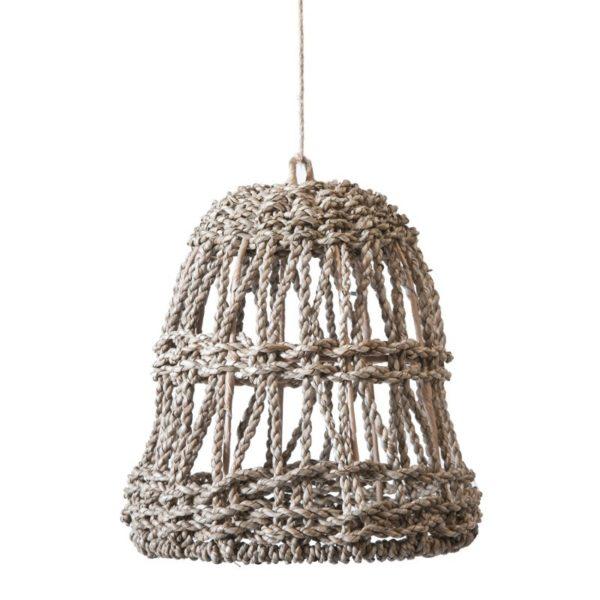 Φωτιστικό Οροφής Μονόφωτο Σε Αραιή Πλέξη Από Πάνδανο Natural Δ25 Υ27