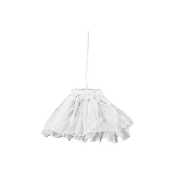Φωτιστικό Οροφής Μονόφωτο Υφασμάτινο Λευκό Με Φιόγκο Υ23