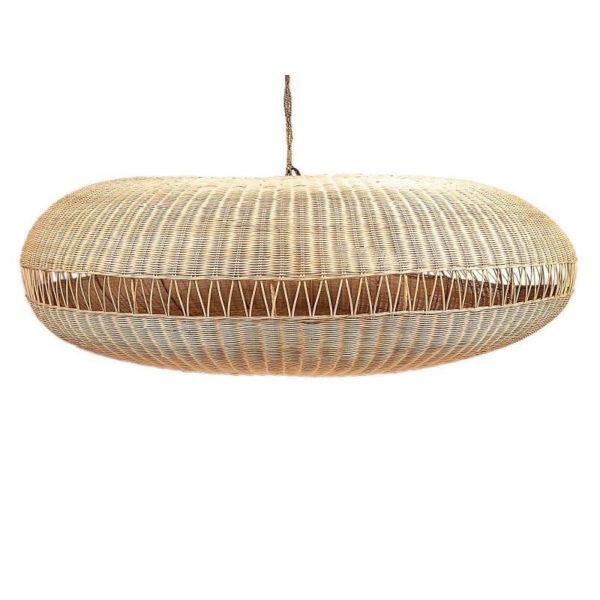 Φωτιστικό Οροφής Ρατάν/ Σχοινί Natural 'Pumpkin' Δ135 Υ55