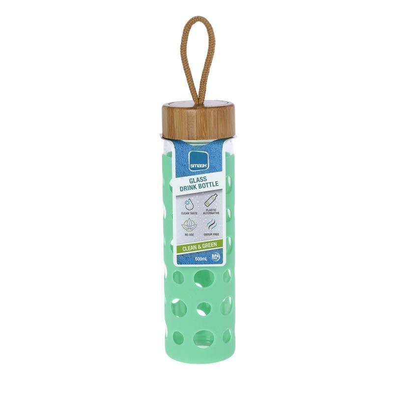 Γυάλινο Μπουκάλι Smash Με Προστατευτικό Κάλυμμα Σιλικόνης 600ml