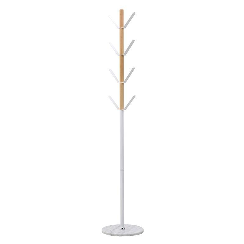 Καλόγερος Μεταλλικός/ Ξύλινος Λευκός/ Natural Beige Υ180