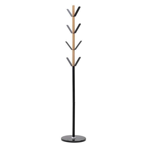Καλόγερος Μεταλλικός/ Ξύλινος Μαύρος/ Natural Beige Υ180