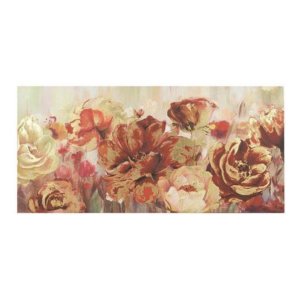 Καμβάς Τριαντάφυλλα Χρυσές Λεπτομέρειες Α 150x70