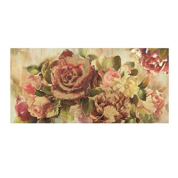 Καμβάς Τριαντάφυλλα Χρυσές Λεπτομέρειες Β 150x70