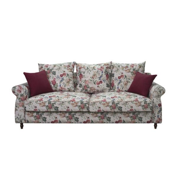 Καναπές 3θεσιος Floral Με Πολύχρωμα Λουλουδάτα Μοτίβα 'Romance' Μ202