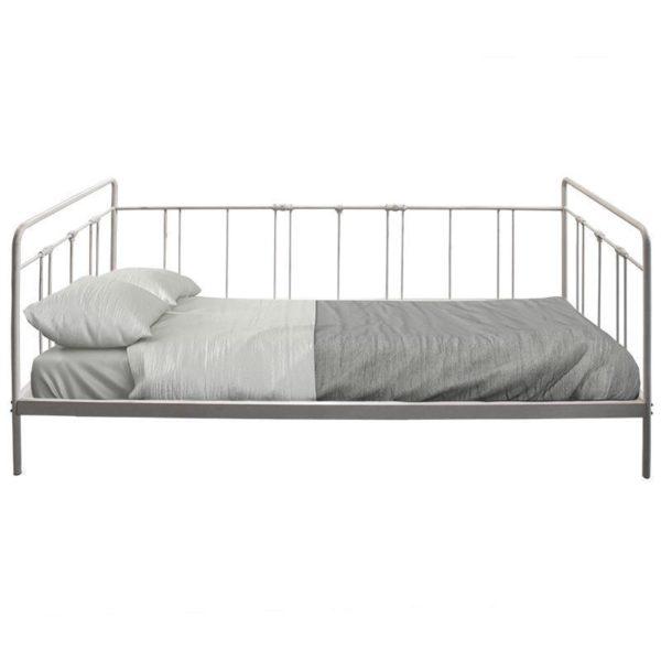 Καναπές/ Κρεβάτι Μεταλλικό Μονό Γκρι Μ205 Π93