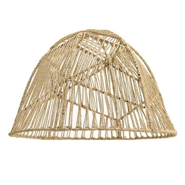 Καπέλο Για Φωτιστικό Οροφής Με Σχοινί Natural Δ60, Inart