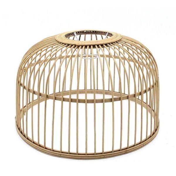 Καπέλο Για Φωτιστικό Οροφής Natural Από Φυσικό Bamboo Δ41.5   Zaros