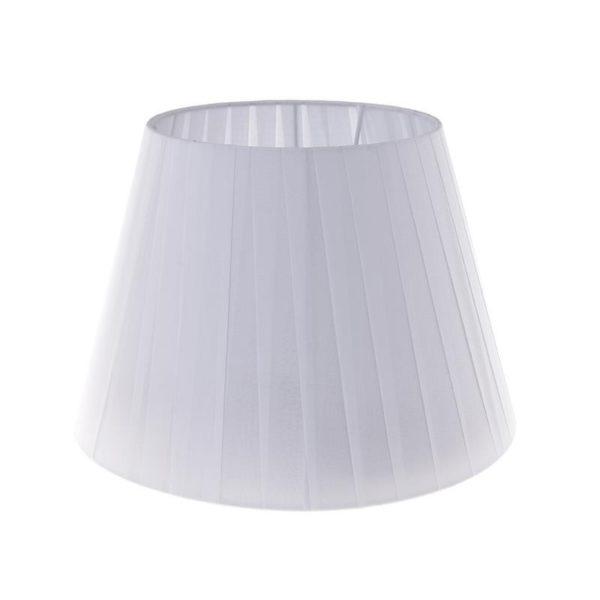 Καπέλο Λάμπας Υφασμάτινο Λευκό Με Πιέτες Δ27.5 Υ20