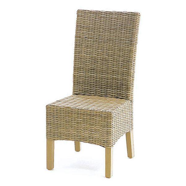 Καρέκλα Τραπεζαρίας Bamboo Teak Με Μαξιλάρι