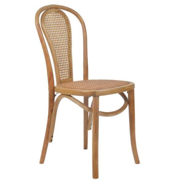Καρέκλα Βιεννέζικη Ξύλινη Natural Ρατάν