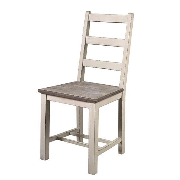 Καρέκλα Ξύλινη Γκρι Με Ντεκαπέ Κάθισμα Και Μαξιλάρι