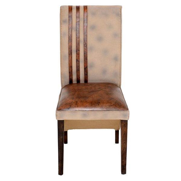 Καρέκλα Υφασμάτινη/ Δερμάτινη Καφέ 46x49x102