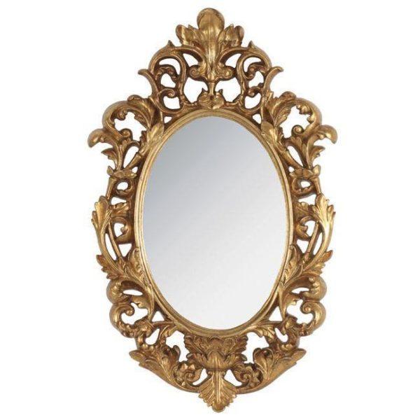 Καθρέπτης Χρυσός Polyresin 31x5x50