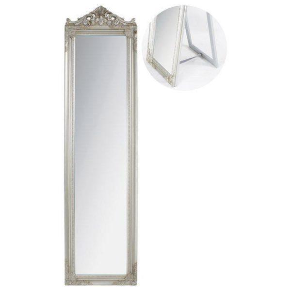 Καθρέπτης Επιδαπέδιος Ορθογώνιος Αντικέ Ασημί
