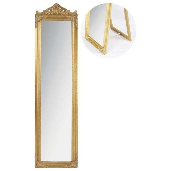 Καθρέπτης Επιδαπέδιος Ορθογώνιος Αντικέ Χρυσός
