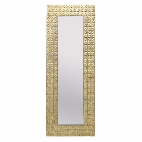 Καθρέπτης Επιτοίχιος Ορθογώνιος, Με Χρυσά Μοτίβα Υ200 Inart
