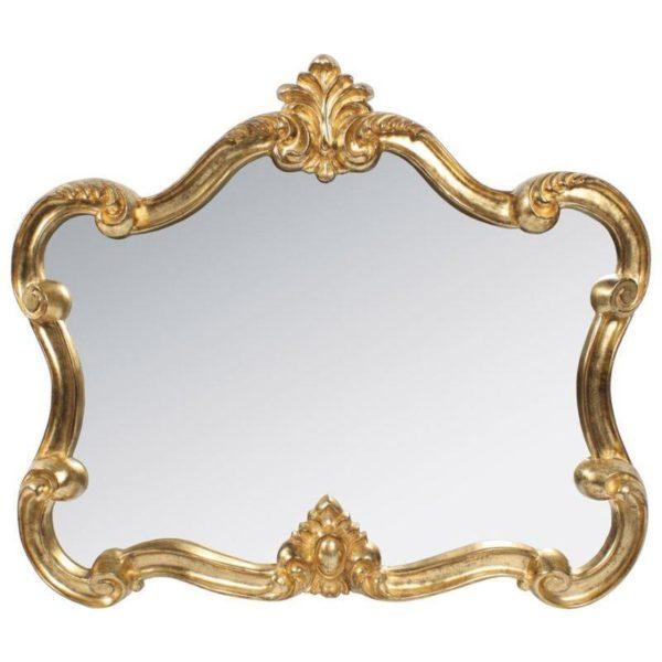 Καθρέπτης Ορθογώνιος Αντικέ Χρυσός Polyresin 80x70