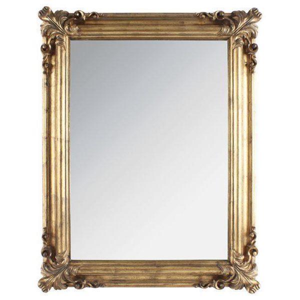 Καθρέπτης Ορθογώνιος Αντικέ Χρυσός Polyresin