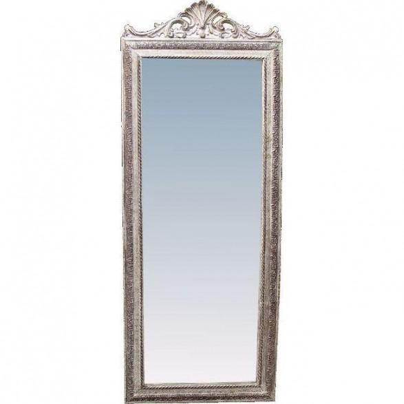 Καθρέπτης Polyresin Μακρόστενος Ασημί