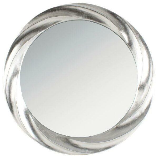 Καθρέπτης Στρογγυλός Polyresin Ασημί