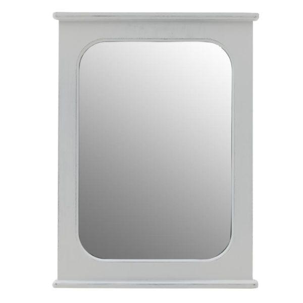 Καθρέπτης Ξύλινος Λευκός 60x80