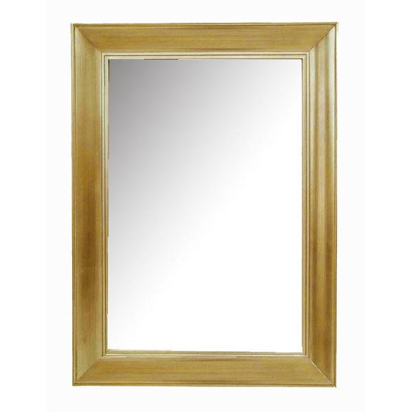 Καθρέπτης Ξύλινος Ορθογώνιος Με Κορνίζα Από Φύλλο Χρυσού 77x108