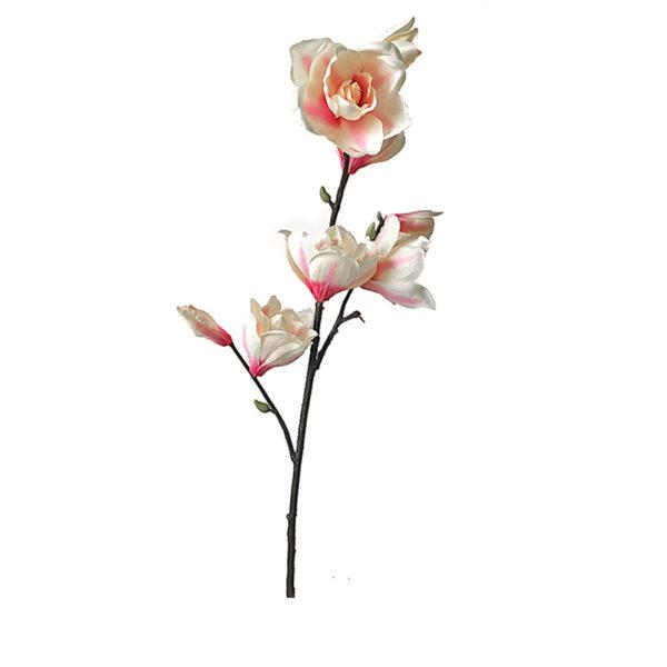 Κλαδί Μανόλιας Με Εκρού/ Ροζ Άνθη