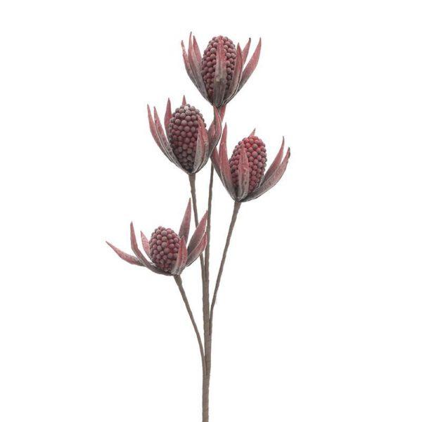 Κλαδί Με Λουλούδια Υφασμάτινα Κόκκινα Υ116