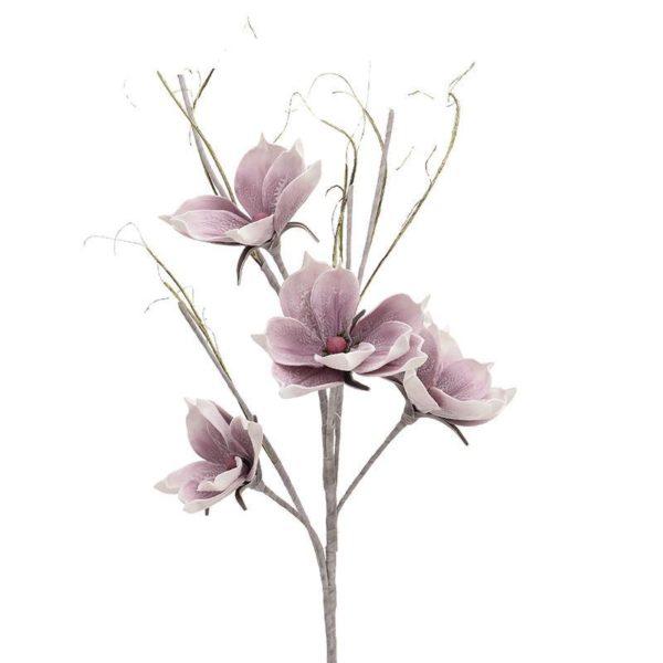 Κλαδί Με Λουλούδια Υφασμάτινα Ροζ/ Μωβ Υ130