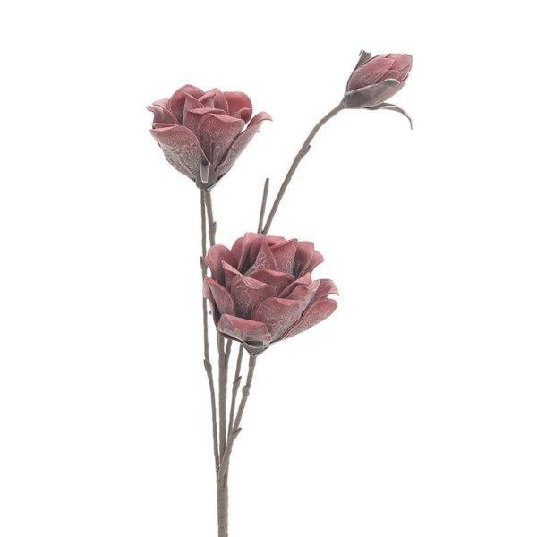 Κλαδί Με Τριαντάφυλλο Υφασμάτινο Φούξια Υ116